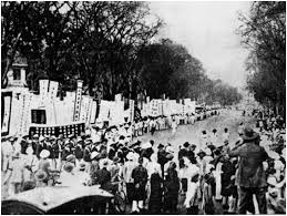 The procession and student rally around the funeral of Phan Chu Trinh in 1926